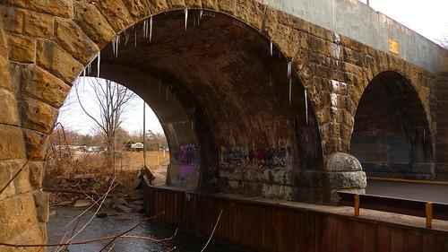 Railroad Bridge And Entrance To Longacre Park