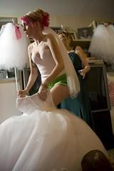 (catie) Tags: pink wedding roses white green cake groom bride rainbow tattoos converse gown fantasmic chucktaylor kurthalsey swarovskicrystal betseyjohnson