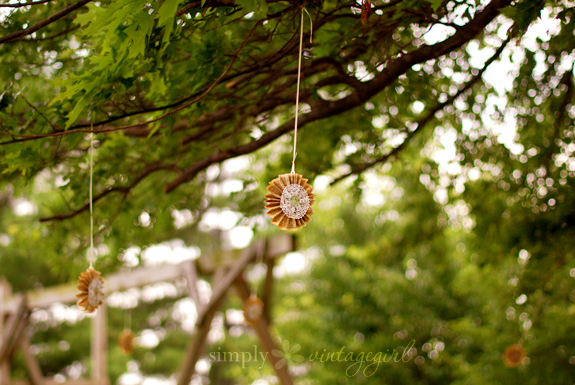Sunshine Decorations Hanging from the Tree
