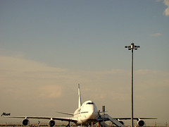 slow flyer (Mari Rasti) Tags: travel blue sky cloud airplane airport iran stop cry tehran gog sonyh50 marirasti