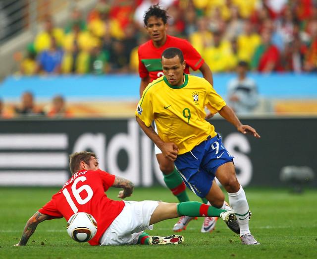 Brasil versus Portugal Mundial Fútbol