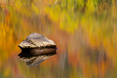 Reflections (JGo9) Tags: park autumn color reflection fall water rock canon season eos rebel kentucky ky beerock pulaskicounty t1i whitlelilly