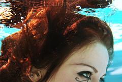 maiden voyage (leslie.june) Tags: blue red underwater blueeyes makeup surreal floating first bubbles redhead greeneyes horus redhair tones maiden eyeofhorus flowy lesliejunephotography lesliejuneunderwater