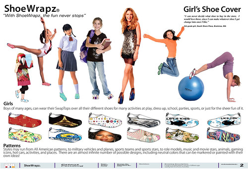Girls ShoeWrapz,  Patent Pending,  by Phil Manker