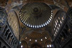 Inside (by_irma) Tags: museum turkey trkiye istanbul mosque inside cami hagiasophia turkije architectuur ayasophia mimari binnen moskee byzantijns