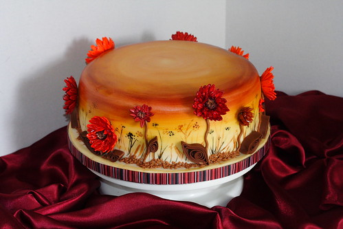 Fall flowers cake0017