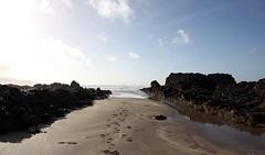 Widemouth Bay (Matt.Cas) Tags: ocean sea sky sunlight nature water stone clouds reflections landscape sand rocks wildlife sealife cliffs beaches naturalworld northdevon widemouthbay beachphotography