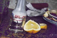 Tequila. Limn y sal. (Llmame A.S) Tags: nikon bokeh tequila vaso sal limon chupito d3000 asphotographies