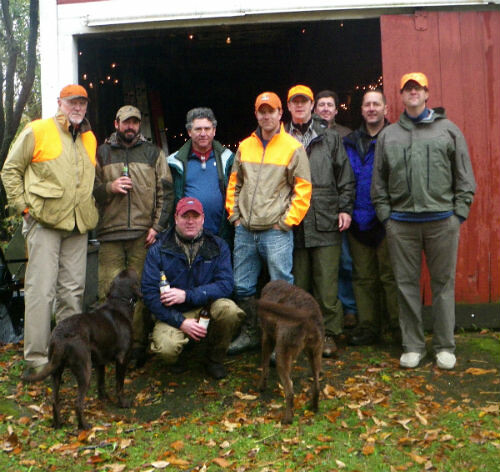 A cold crew of grouse hunters