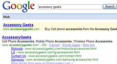 AccessoryGeeks  in Google SERP