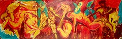 male domination (Shubnum Gill) Tags: india art painting women asia delhi canvas oil gill newdelhi shubnum shubnumgill wwwshubnumgillcom