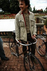 Liakos Ariston and his bamboo bike