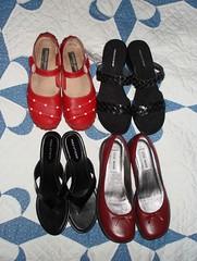 Shiny, new, happy shoes