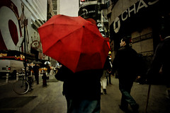 Red, New York, New York (Seven Seconds Before Sunrise) Tags: street nyc newyorkcity people newyork umbrella unitedstates manhattan timessquare target