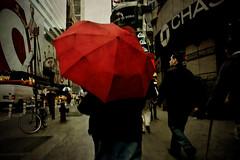 Red, New York, New York (Seven Seconds Before Sunrise) Tags: street nyc newyorkcity people newyork umbrella unitedstates manhattan timessquare target