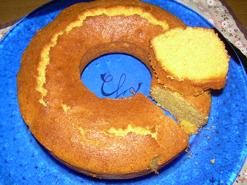 Torta de maíz cortada
