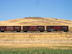 Boxcars (Telstar Logistics) Tags: railroad train boxcar southernpacific travisafb
