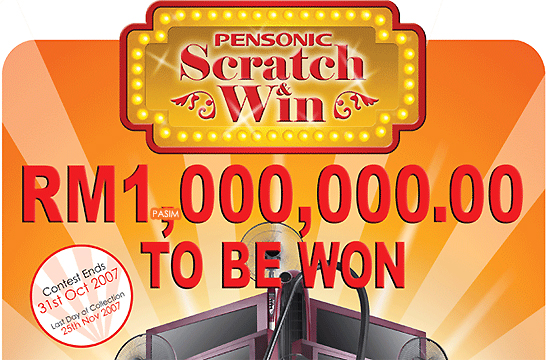 Pensonic Scratch & Win contest