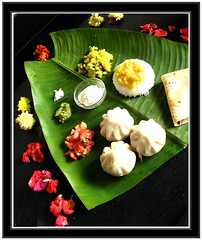 Naivaidya (shubhangi athalye) Tags: flowers food india color tomato festive leaf salad colorful rice indian traditional banana homemade ganesh bombay offering maharashtra yogurt mumbai poli chaturthi ganapati roti indianfood thali daal bhaat varan bananaleaf chapati maharashtrian dahi festivalfood greenchutney koshimbir naivaidya naivaidyam