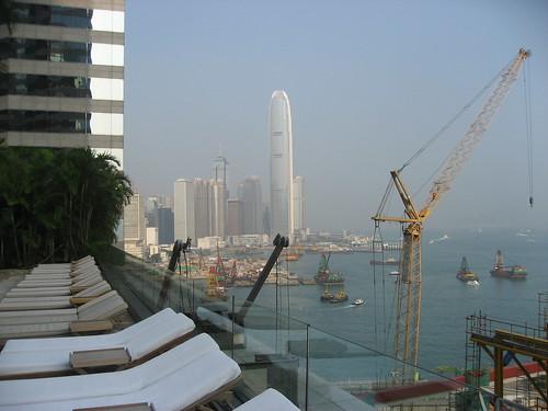 View of Hong Kong Harbor from Grand Hyatt Pool Deck (on 11th floor)