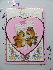 pretty melody... (Apple-Jack) Tags: cute animal vintage engagement pretty sweet pastel retro collection card 80s kawaii 70s raccoon greeting