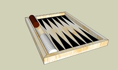 Backgammon board top