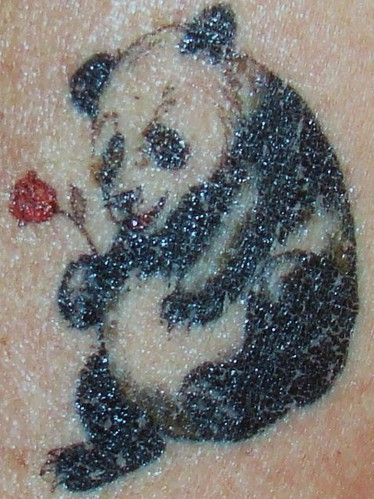 Temporary Panda tattoos that were
