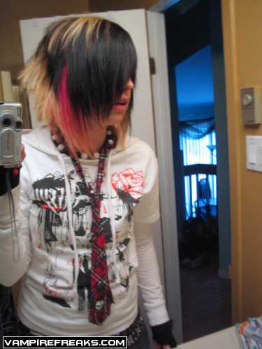 Super emo hair style