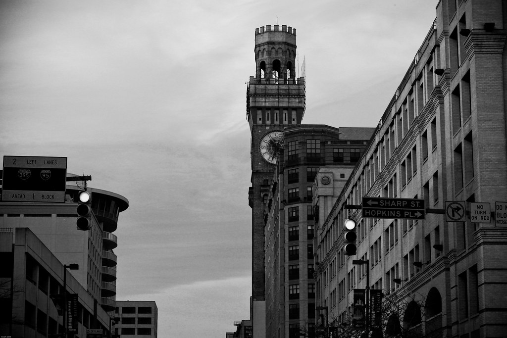Sharp St. and Bromo Seltzer Clock