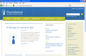 New Pew Internet & American Life site