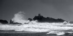Storm Point (Catching Magic) Tags: ocean sea bw seascape storm coast nikon rocks waves tiraudan