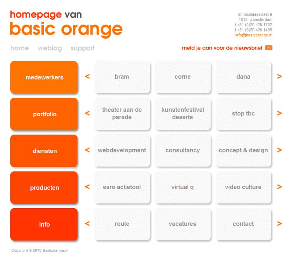 concept / webdesign basicorange