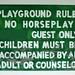 Children's playground rules sign