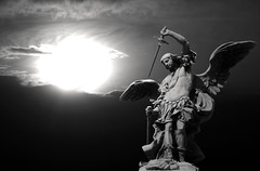 Archangel Michael (michael_hamburg69) Tags: italien bw italy rome roma monochrome angel michael und von sightseeing sw monochrom angelo engel sanmiguel weiss processed rom archangel schwarz volk castelsantangelo senat rearranged spqr engelsburg erzengel besichtigung newsky senatuspopulusqueromanus mausoleodiadriano castelsantangelo peterantonvonverschaffelt