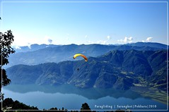 Paragliding Pokhara (BAJRArt) Tags: nepal paragliding pokhara bajart