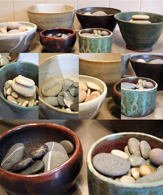 bowls of rocks