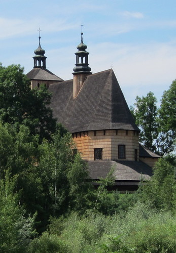 wooden church in Haczow