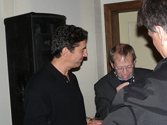 "Chuck Lorre, Creator, ""Two and a Half Men"", with Jon Plowman, Head of Comedy, BBC TV"