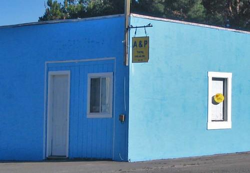 blue building