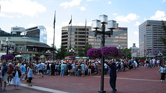 Crowd at the Inner Harbor