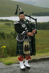 The Lone Piper (Mark Andrew Turner) Tags: bridge scotland highlands kilt scottish lone glencoe piper bagpipes moor clan orchy bagpiper tartan sporran lochtulla rannoch of scottishculture