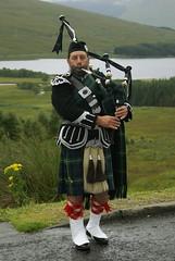 The Lone Piper (Mark Andrew Turner) Tags: bridge scotland highlands kilt scottish lone glencoe piper bagpipes moor clan orchy bagpiper tartan sporran lochtulla rannoch of scottishculture