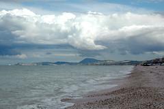 conero-coast (Foto Senigallia e dintorni #2) Tags: nuvole mare conero marche senigallia costaadriatica ghiaiosa