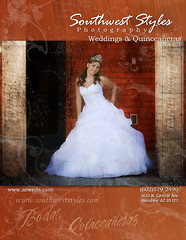 Southwest Styles Photography Ad for Quinces Y Novias Magazine in Arizona (swstyles) Tags: southwest styles weddings quinceaneras
