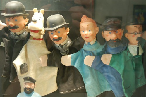 scary tintin puppets