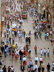 istiklal street - istanbul (H e r m e s) Tags: people turkey streetlife istanbul beyoğlu streetistiklalstreet