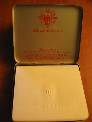 When cigarettes had class...du Maurier cigarette tin