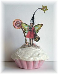 FaiRy fake cupcake faux oRiGiNaL aLTeReD aRt CoLLaGe (sPaRK*YouR*iMaGiNaTioN) Tags: original art collage altered photo wings assemblage mixedmedia fairy cupcake frosting