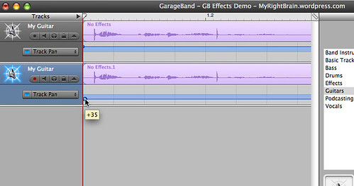 iLife GarageBand '06 - creating a stereo effect (A2-2)