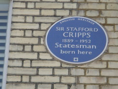 Photo of Richard Stafford Cripps blue plaque